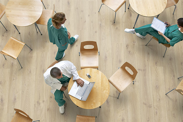 Pergo floors used in healthcare